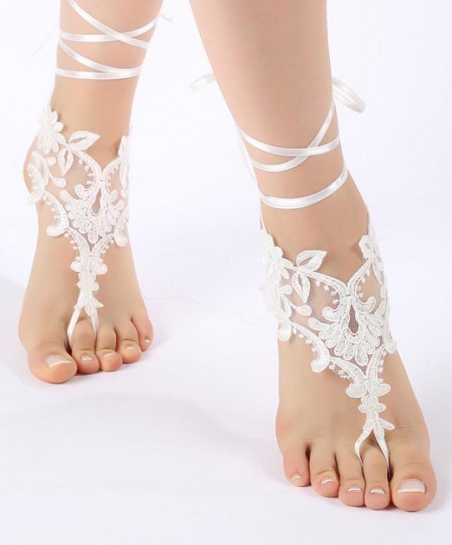 Free Ship Beach Wedding Barefoot Sandals Beach Shoes ...