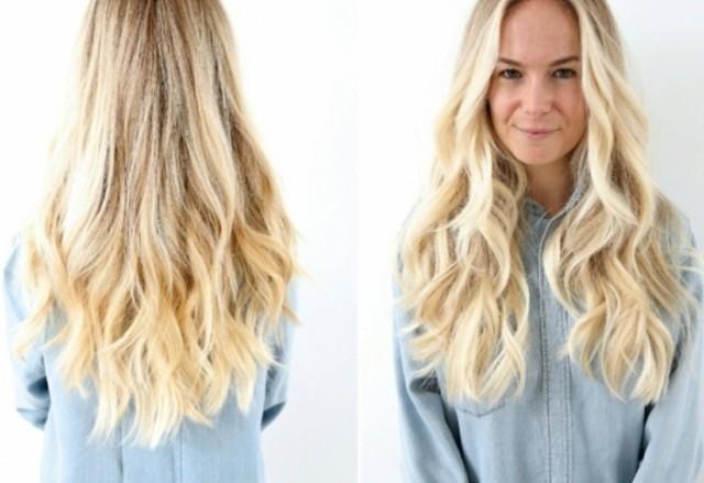 blonde frisuren blonde lange haare 2599127 weddbook. Black Bedroom Furniture Sets. Home Design Ideas