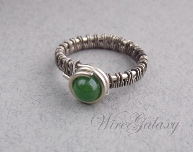 style jewelry ring made of nickel silver with