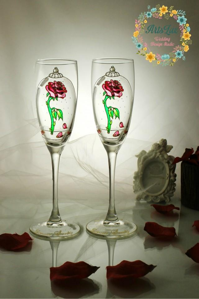Beauty And The Beast Enchanted Rose Personalized Wedding