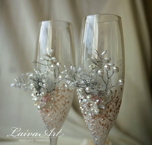 Wedding Champagne Flutes Wedding Champagne Glasses White ...