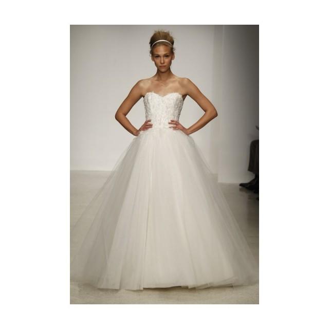 Christos Spring 2013 Fleur Strapless Tulle Ball Gown Wedding