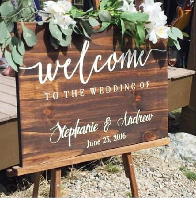 Welcome to our wedding sign wedding decoration wedding sign welcome to our wedding sign wedding decoration wedding sign rustic weddings welcome sign wedding accessories wooden wedding sign 2602724 junglespirit Image collections