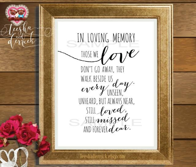 In Loving Memory Instant Download Printable Wedding