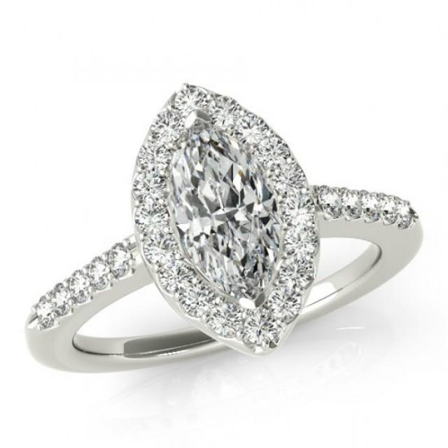 2 80 Carat Marquise Supernova Moissanite & Diamond Engagement Ring