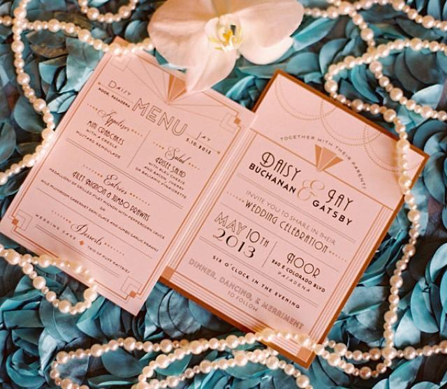 art deco wedding invitation great gatsby wedding roaring 20s
