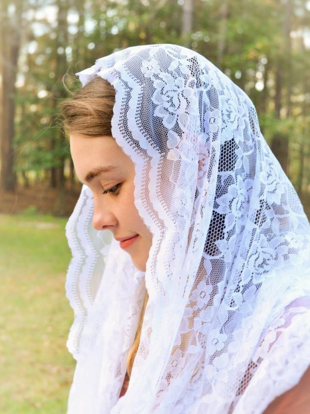 Accessories Catholic Soft White Infinity Veil 2605151