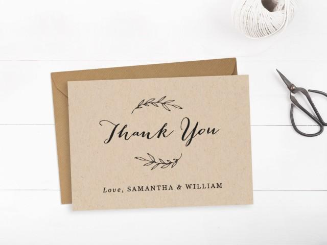printable wedding thank you card template  editable text