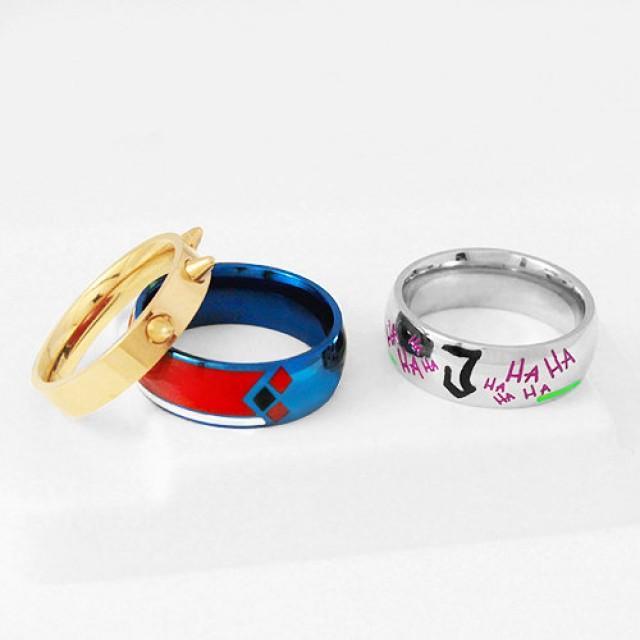 JOKERLEY Set Ring, Harley Joker Stainless Steel Ring