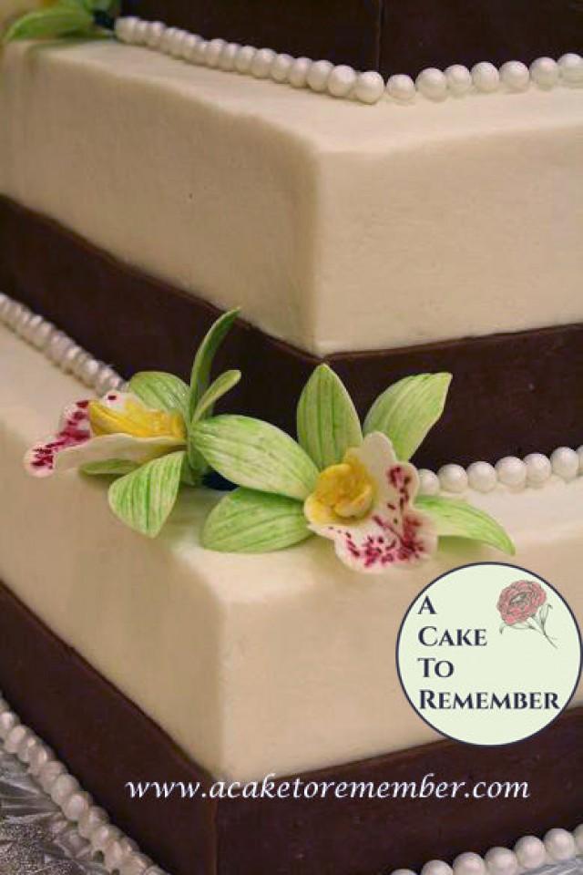 1 Gumpaste Orchid Sugar Flower For Cake Decorating Edible Flowers
