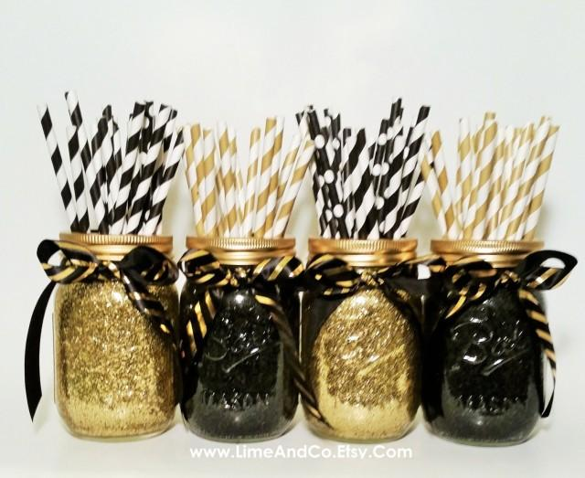 Mason Jar Centerpiece Wedding Graduation Party