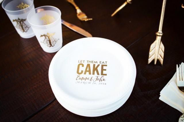 personalized plates  plastic plates  cake plates  wedding favors  custom wedding plates  dessert