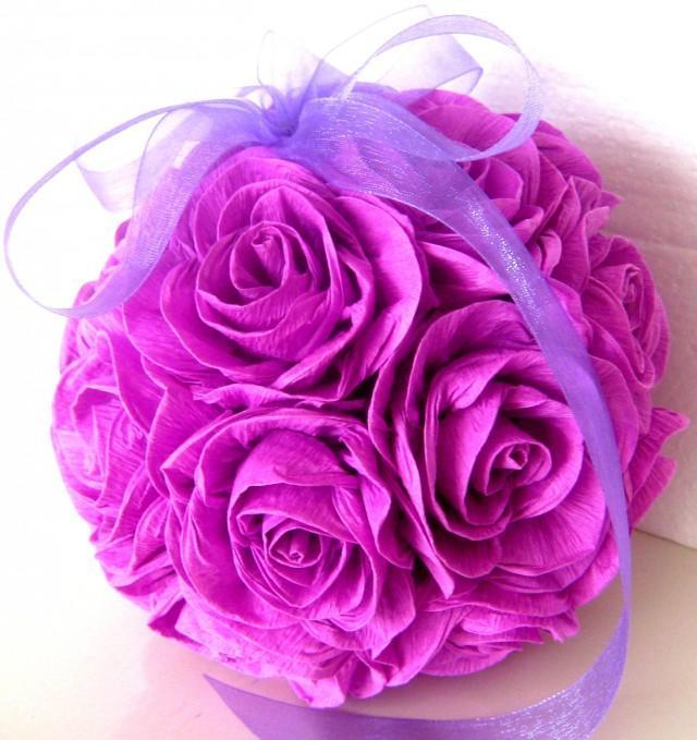 Crepe paper flower balls purple lavender lilac wedding hanging paper crepe paper flower balls purple lavender lilac wedding hanging paper flowers wedding pomander kissing balls wedding dekor flower girl 2608307 weddbook mightylinksfo