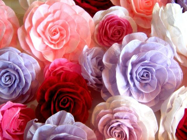 10 Great Large Giant Paper Flowers Crepe Paper Photo Backdrop Wall