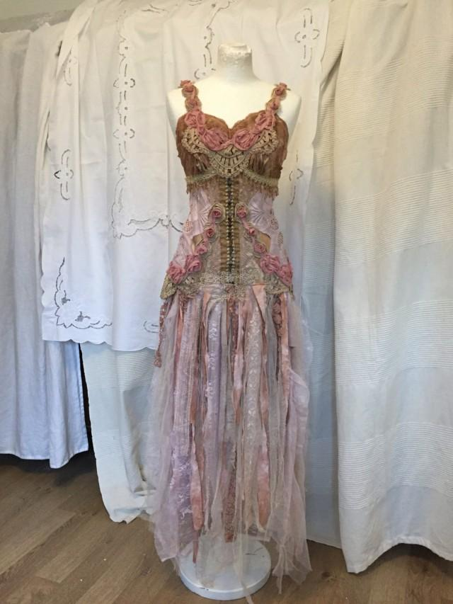 Fairy wedding dress elven wedding dress ethereal wedding for Elven inspired wedding dresses