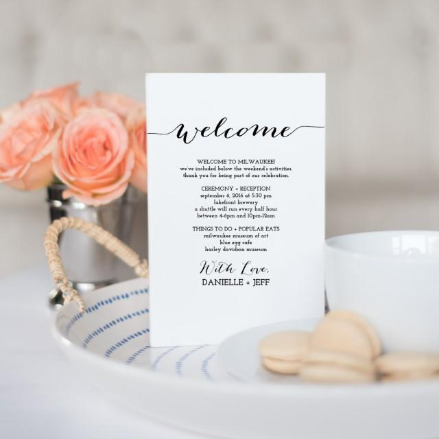Printable Wedding Itinerary Template Wedding Weekend Itinerary