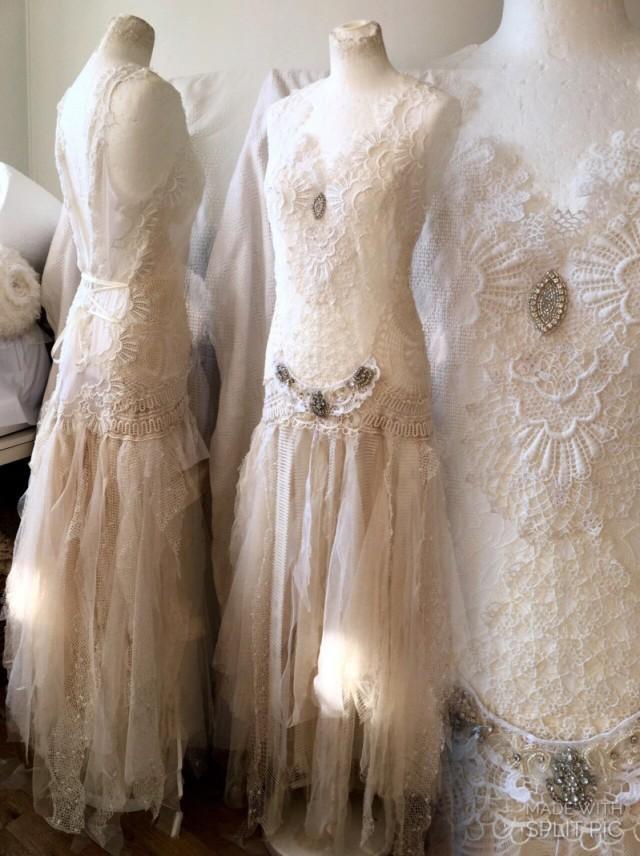 Bohemian wedding dress made in denmark boho bridal gown for Where to buy boho wedding dresses