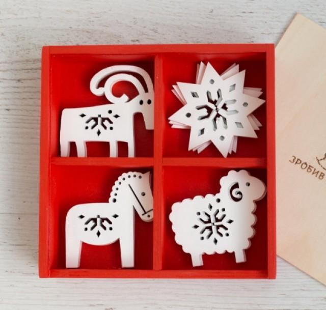Wooden Animals Ornaments Wood Christmas Decoration Unique