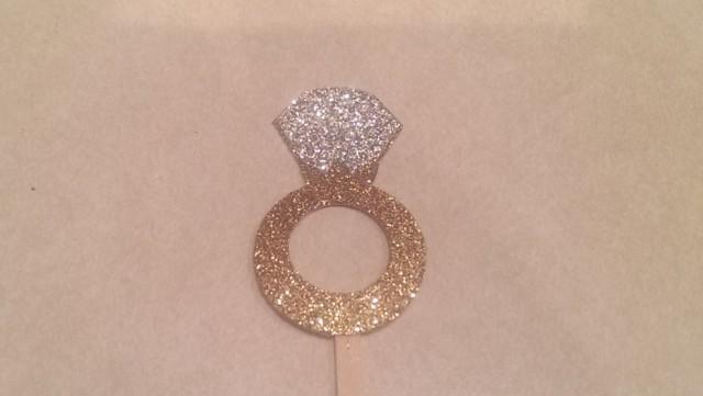 Diamond Ring Cupcake Toppers