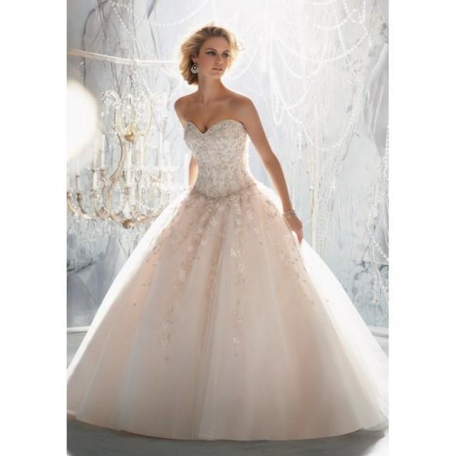 Drop Sleeve Wedding Gowns With: Mori Lee 1970 Drop Waist Beaded Ball Gown Wedding Dress