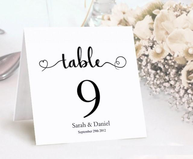 Table Numbers Printable Wedding Table Card Template DIY Editable - Wedding table numbers template