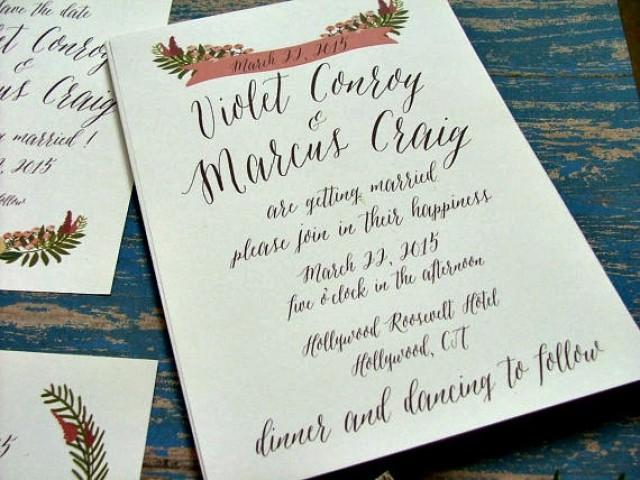 handwritten wedding invitations Wedding Decor Ideas