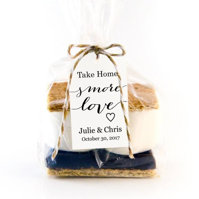 Wedding Take Home Gifts: Take Home S'MORE Love Tag Template, Wedding Favor Tag