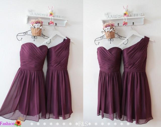 Short Chiffon Bridesmaid Dress A Line One Shoulder Bridesmaid Dress Sexy Short Junior Bridesmaid Dresses Formal Purple Wedding Party Dresses 2617632 Weddbook,Wedding Guests Dresses 2020
