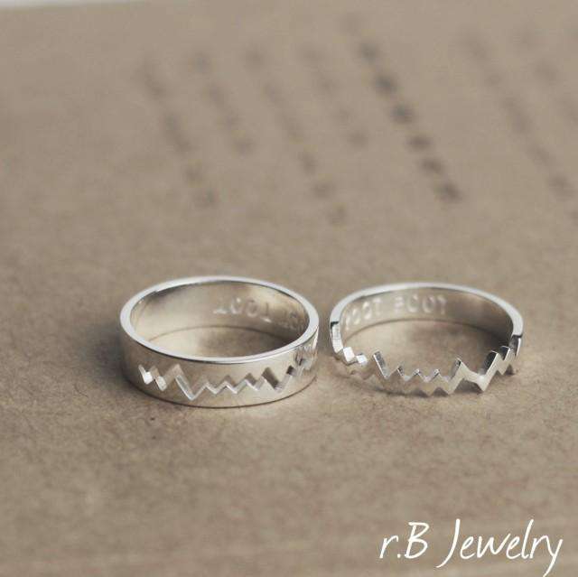 Personalized Couples Rings, Couples Rings Set, Gift For ...