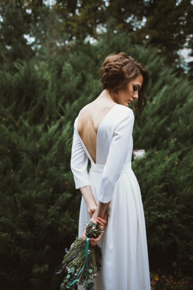 classic simple weddings wool wedding dress classic wedding dress winter wedding dress
