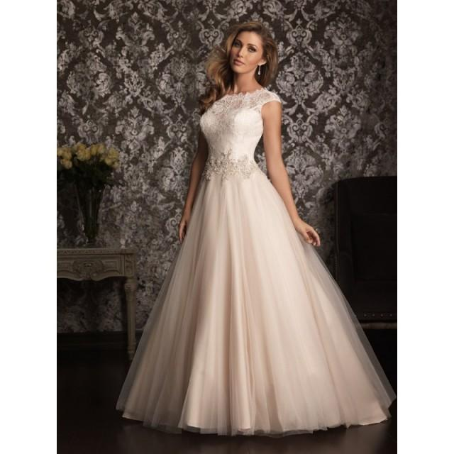 Craziest Wedding Dresses: Allure Bridals 9022 Cap Sleeve Lace Ball Gown Wedding