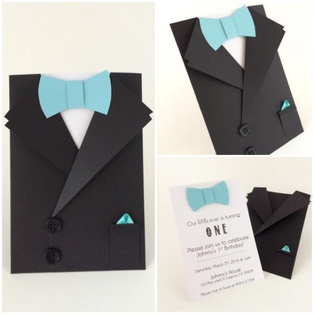 Tuxedo Card Bow Tie Card Groomsman Invitation