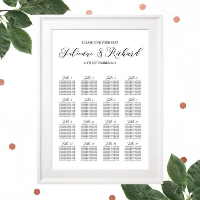 Printable Wedding Seating ChartRehearsal Dinner Seating Chart