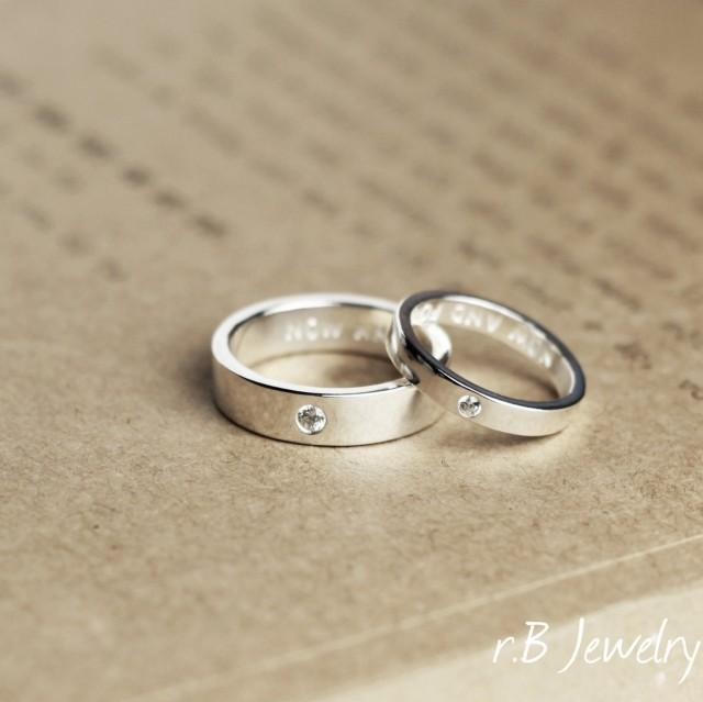 Matching Promise Rings, His And Her, Anniversary Gift, Gift For Couples, Promise Rings, Couples ...