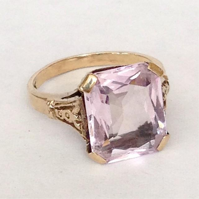 Light Pink Ring Square Cut
