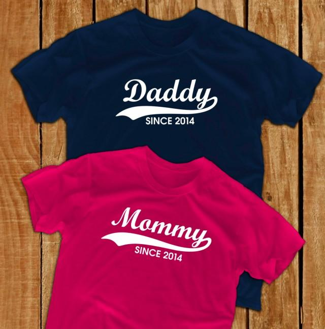 Daddy Shirt Mommy Shirt Pregnant New Dad Gift Papa Shirt