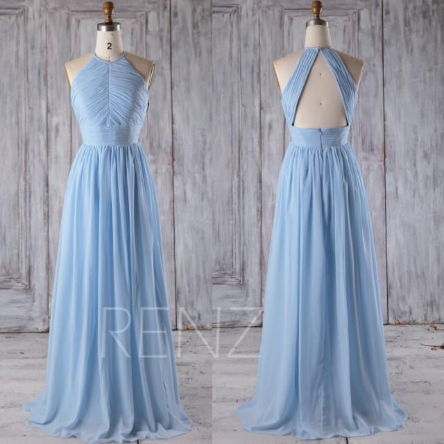 e9d8445aa8c 2016 Light Blue Bridesmaid Dress