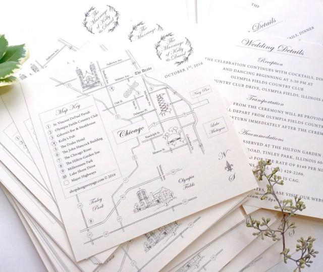 THE Classic • Hand-drawn Wedding Map With Personalized