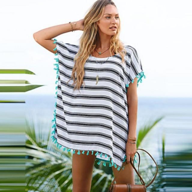 d7ecdfc8c6c 2017 New V Neck Tassel SleeveSwimsuit Nz Beach Cover Up Swimwear Nz Women  Summer Style