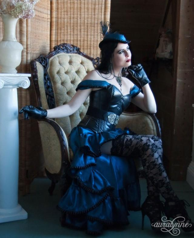 Twilight Temptress - Leather Taffeta Steampunk Ballgown - Made To ...