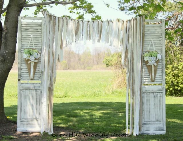 Wedding Curtains Backdrop Lace Wedding Garland Burlap