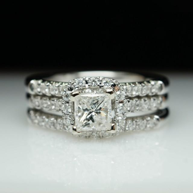 sale princess cut halo engagement ring