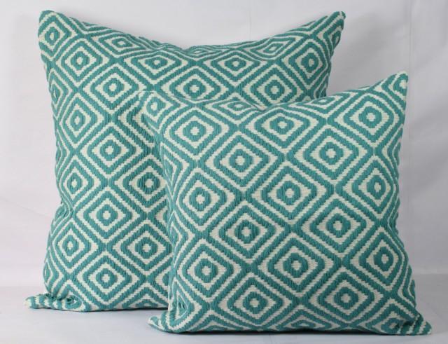 Teal Decorative Pillows Teal Throw Pillow Christmas Pillow