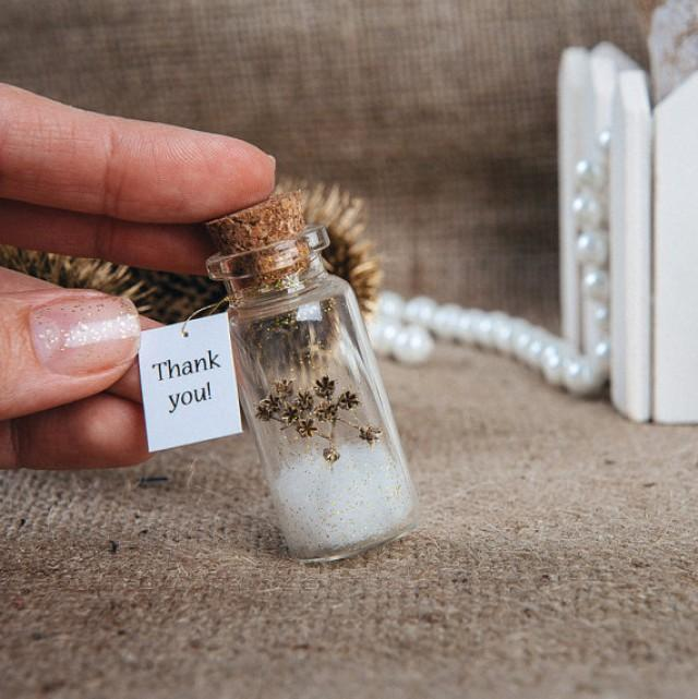 Ideas For Wedding Favors For Guests: Natural Favors Eco Wedding Favour Thank You Bottle Wedding