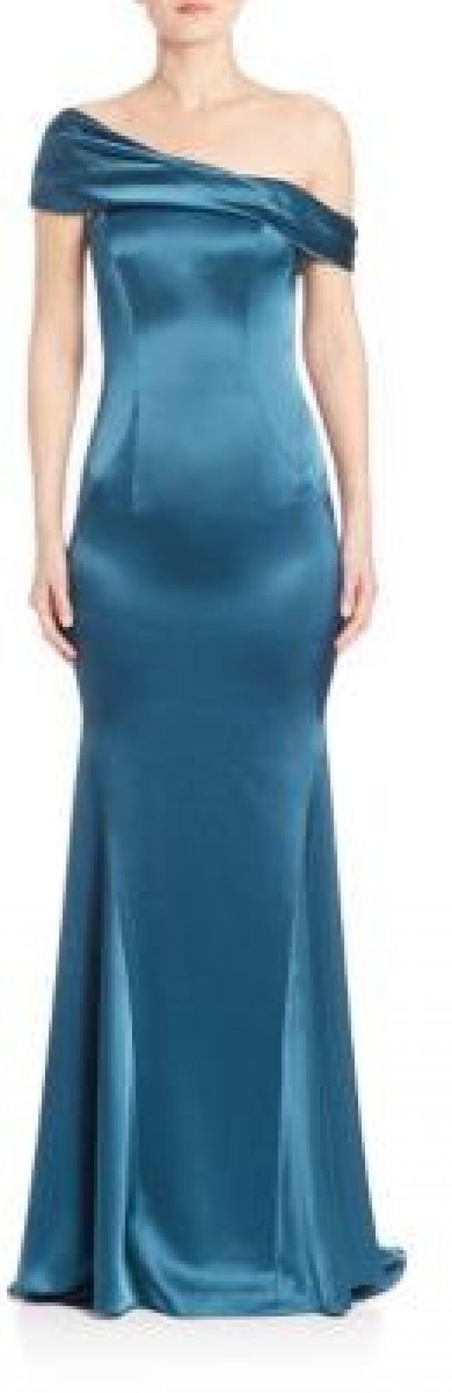 St. John One-Shoulder Gown #2626466 - Weddbook