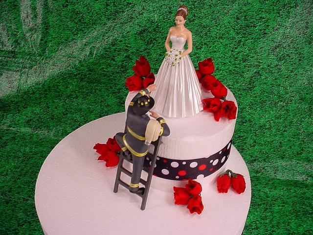 Elegant Bride And Fireman To The Rescue Groom Firefighter