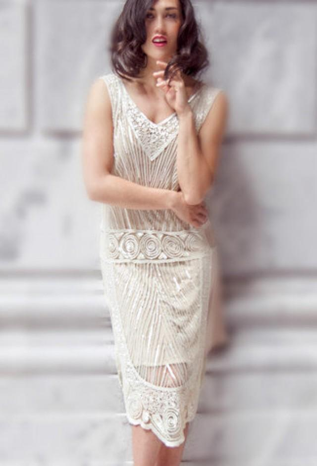 Crystalline 1920s Art Deco Beaded Vintage Flapper, The Great Gatsby ...