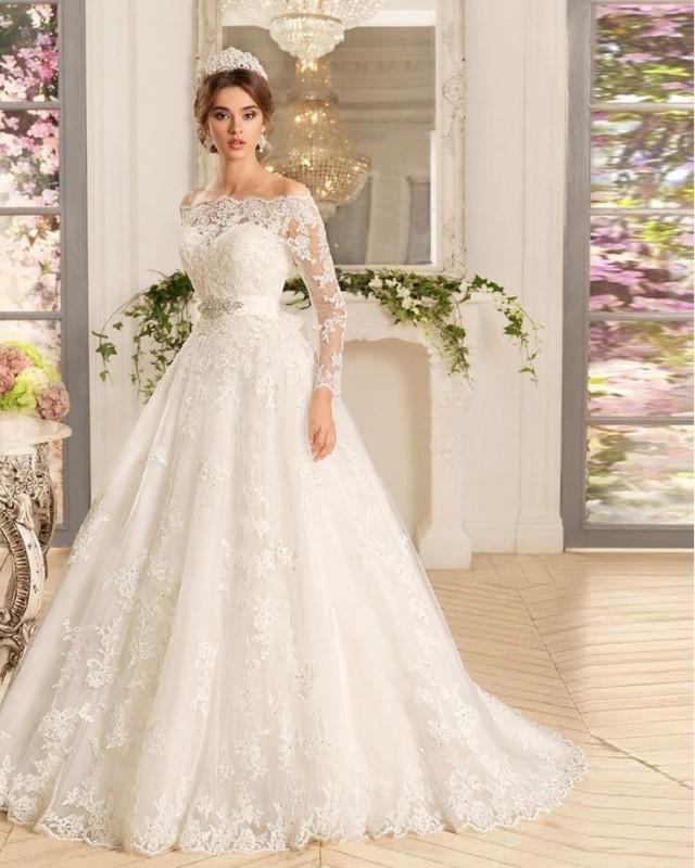 Online shop vestido de noiva manga longa three quarter for Vintage wedding dresses online shop