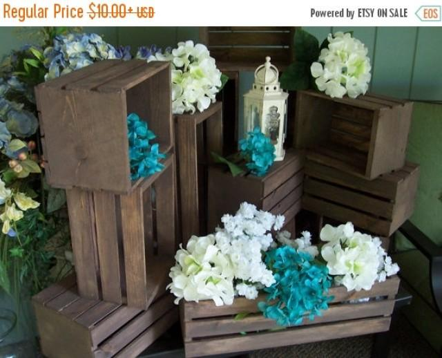 On sale rustic flower box centerpiece wooden crates