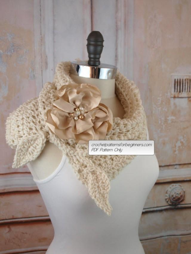 Crochet Cowl Pattern Crochet Scarf Pattern Flower Split Cowl Easy